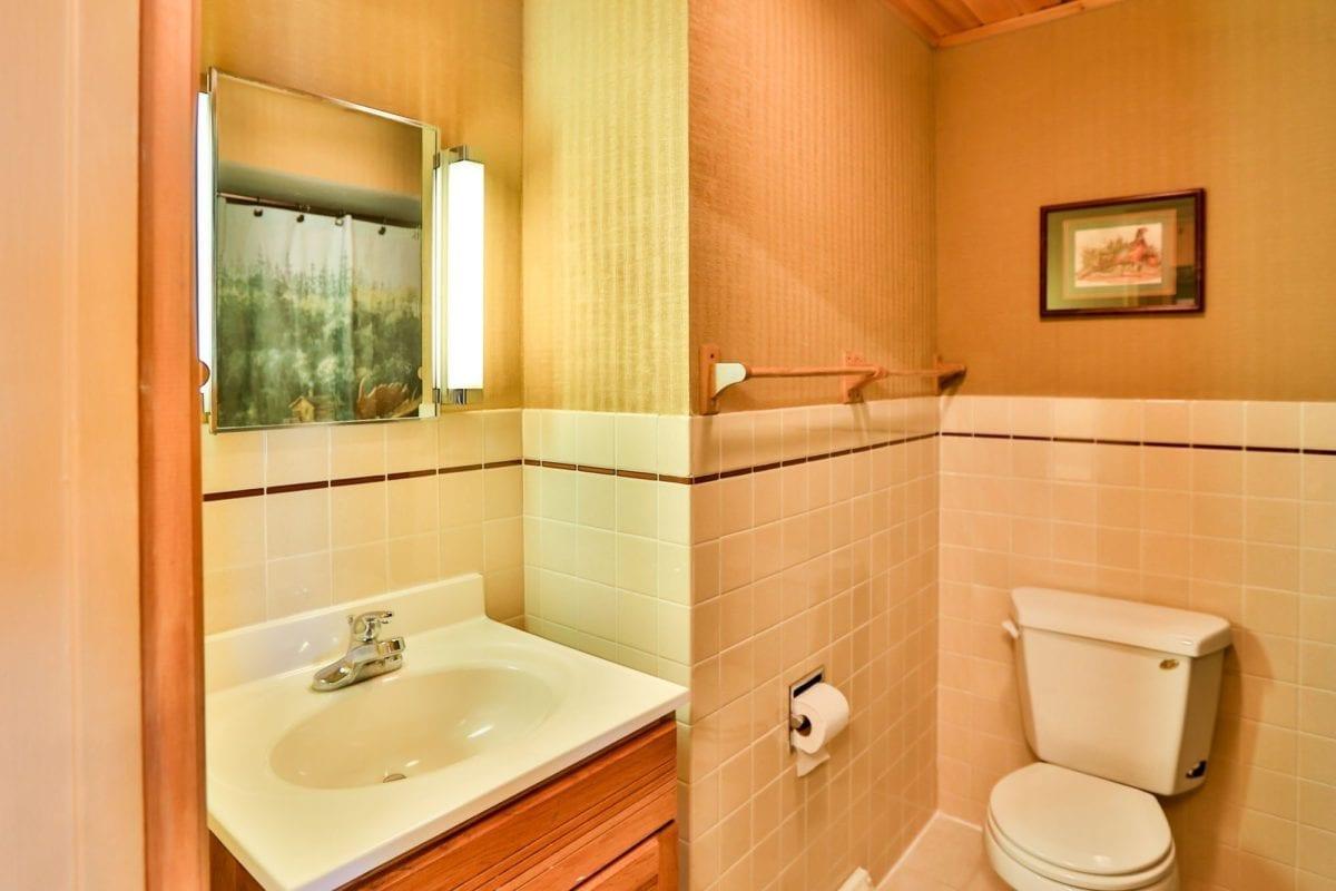 Moose Lodge bathroom.