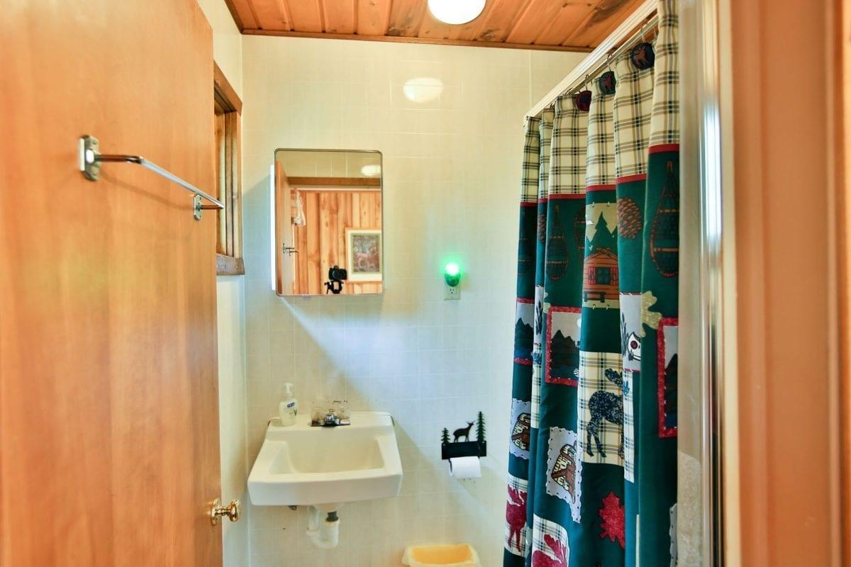 Caribou Cabin bathroom.