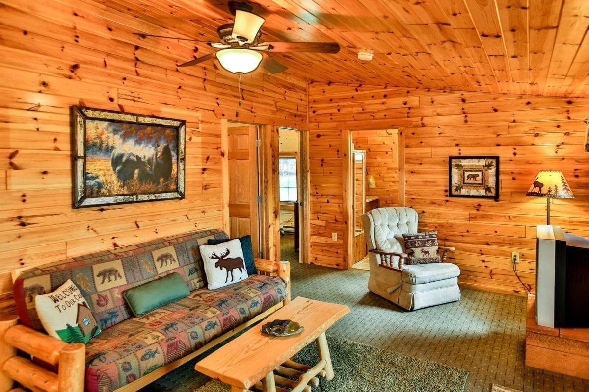Bear Cabin living room.