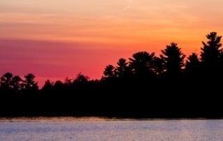 Lake Kabetogama at sunset.