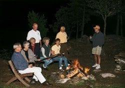 Group around a campfire.