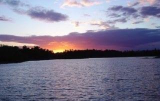 Sunset on the Lake Wallpaper