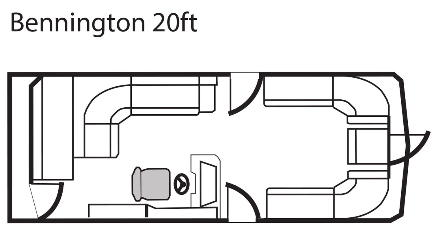 Bennington 20' pontoon seating plan.